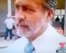 Hombre desaparece en un video grabado en una entrevista