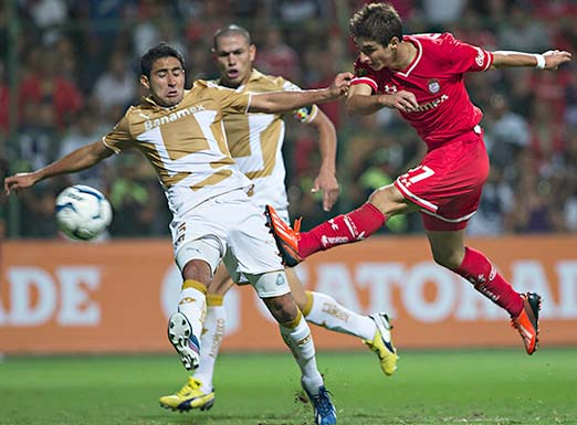 Pumas contra Toluca en el último juego