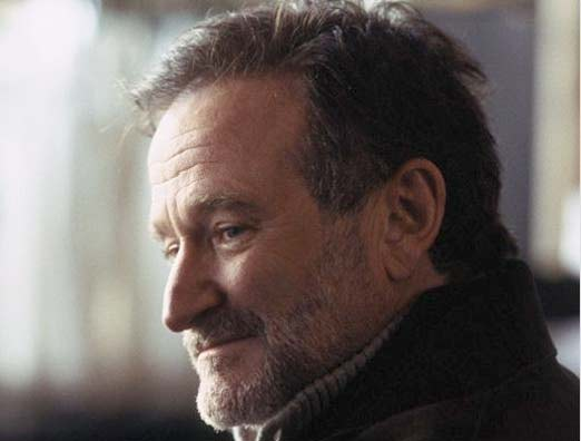 Robin Williams triste