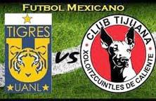 Xolos de Tijuana contra Tigres de la UANL, juego en el Estadio Caliente