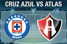 Cruz Azul contra Atlas de Guadalajara
