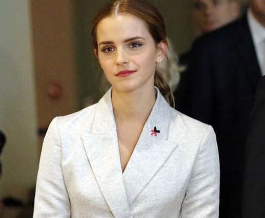 Emma Watson dando discurso de HeForShe
