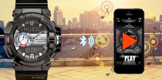 G-Shock de Casio para controlar tu música
