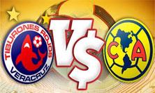 Veracruz enfrenta al América en el Estadio Azteca