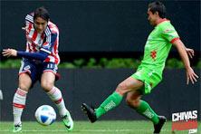 Chivas contra Chiapas juego del 10 de Enero de 2015