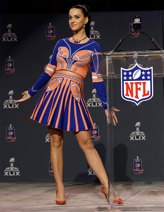 Katy Perry lista para cantar en el Super Bowl 49 (XLIX)