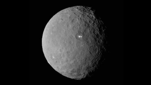 El planeta Ceres emite dos luces