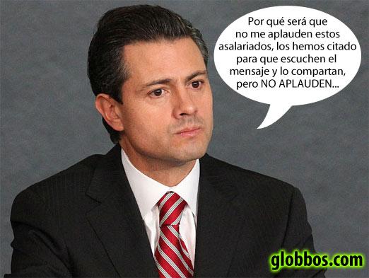 Ya sé que no aplauden dice Enrique Peña Nieto