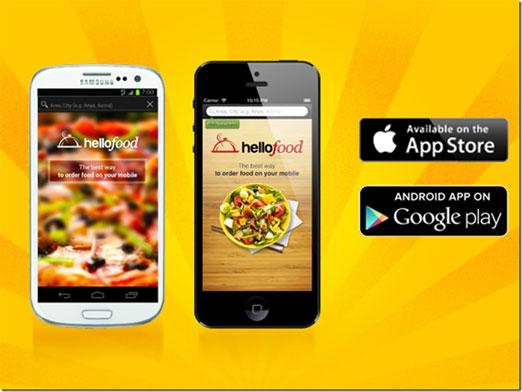 Aplicación de hellofood disponible para iOS,