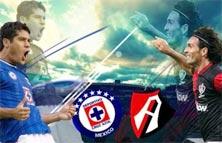Atlas contra Cruz Azul encuentro deportivo