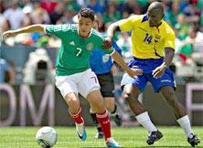México contra Ecuador primer partido amistoso