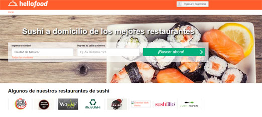 Sushi en hellofood, aquí encontraras los mejores restaurantes de sushi