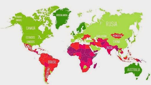 Mapa en el cual se puede observar los primeros
