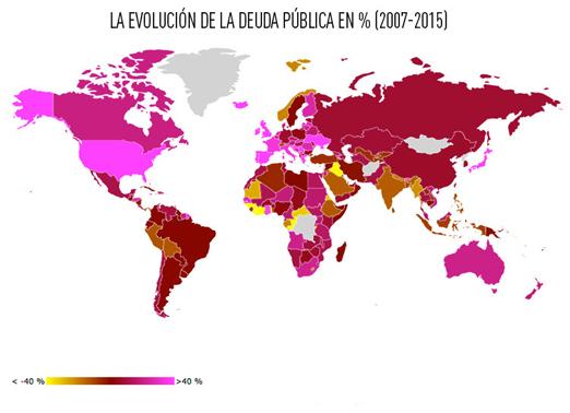 Mapa de la evolucion de la crisis