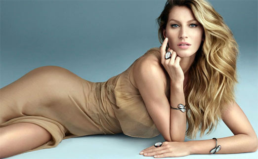 Gisele Bundchen, sexy modelo de Brasil