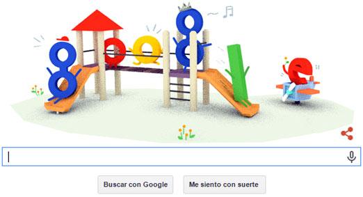 Google y el 30 de Abril de 2015 con su Doodle
