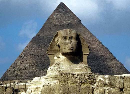 Pirámide de Keops y la Esfinge de Egipto