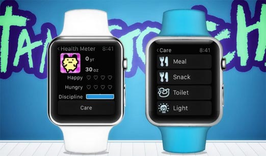 Tamagochi en el Apple Watch para jugar en el reloj inteligente de Apple