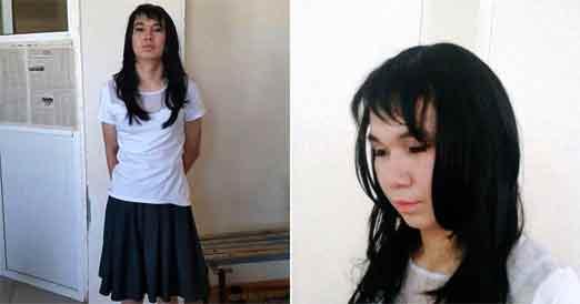 Joven de 20 años se viste como mujer para poder realizar el examen de su novia.