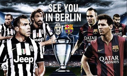 Barcelona contra Juventus en línea