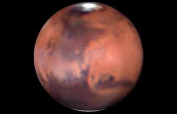 Foto de la rotación de Marte con enigmas y novedades