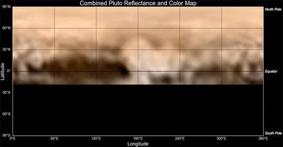 Mapa del planeta enano Plutón ha sido generado