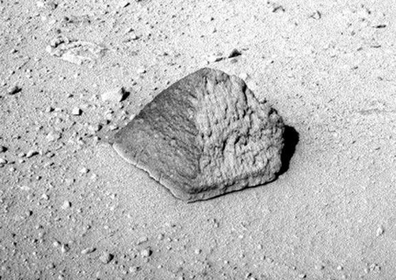Imagen de la pirámide en Marte que fue encontrada por la NASA