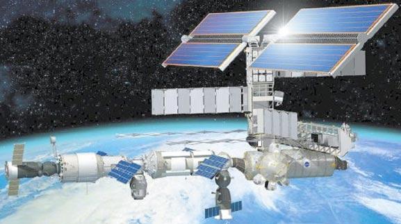 Estación Espacial Internacional grabando la tierra