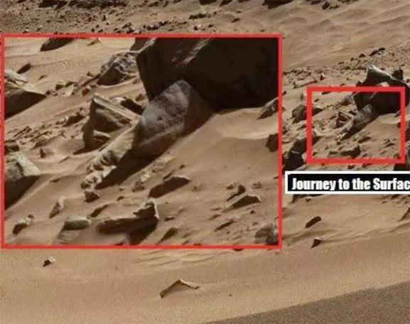 El rostro de piedra de Marte, una posible roca
