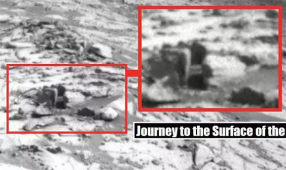Una tuberia en Marte metida en la tierra