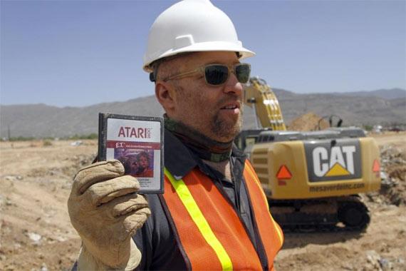 Desenterrando juegos retro de Atari en el desierto de Alamogordo