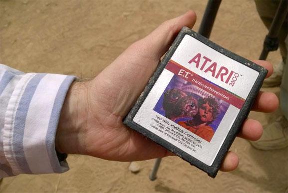 Cartucho de E.T. de Atar 2600, restos de la historia