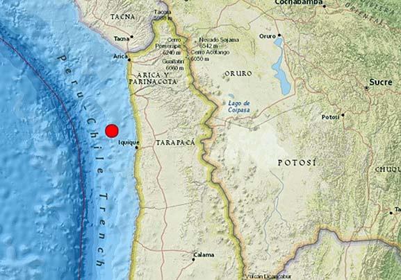 Terremoto en Chile de 7.9 grados