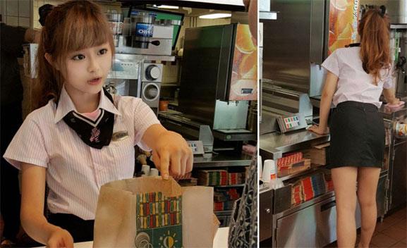 Hsu Wei, chica hermosa McDonalds de Asia