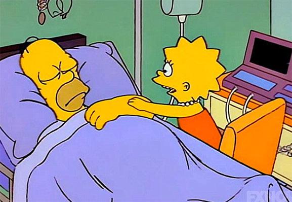Homer Simpson en coma desde 1993
